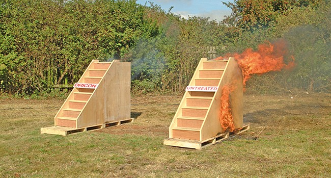 Dricon stair fire test